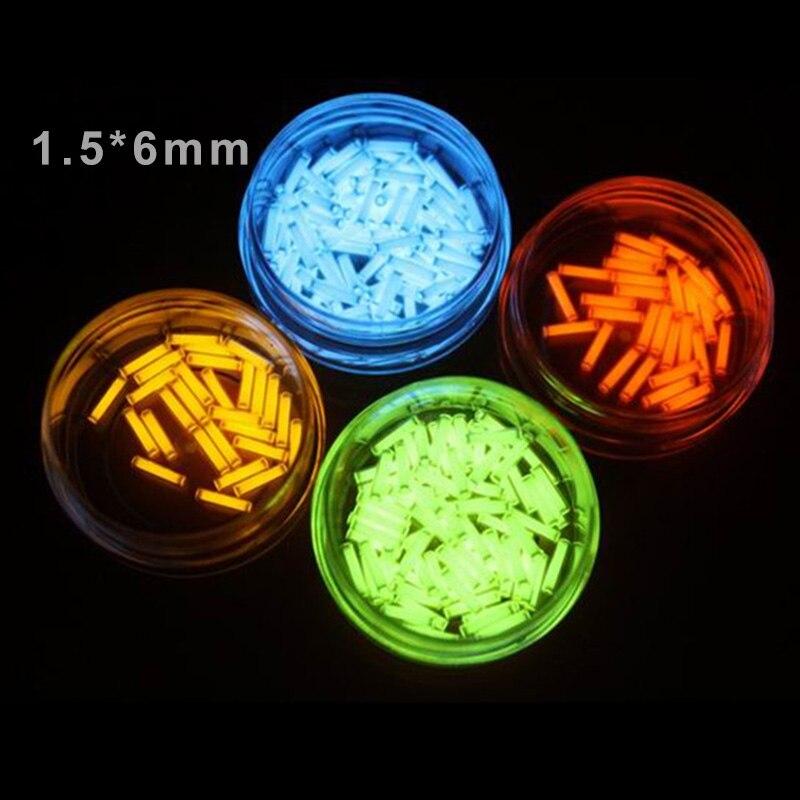 1PC 1.5*6mm Automatic Tritium Light Self-luminous 25 Years Keychain DIY Accessories Fluorescent Tube Lifesaving Emergency Lights