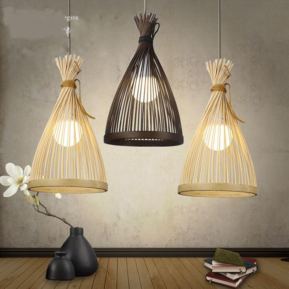 Bamboo restaurant pendant lights bar creative personality Japanese new Chinese balcony tea room club house pendant lamp LU71355 цена