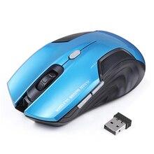 Беспроводной Мыши 6 Пуговицы оптическая компьютерная Мыши компьютерные геймер 2000 точек/дюйм 2.4 ГГц USB приемник Gaming Мыши для рабочего ноутбука