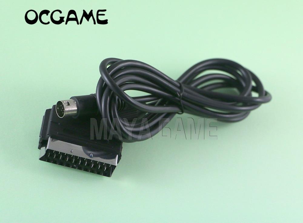 OCGAME 10PCS LOT New arrive RGB Scart Lead cable For Sega Mega Drive 2 Genesis 2
