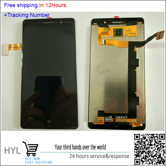 In Stock!!100% Original LCD Display Digitizer Touch Screen Glass For Nokia Lumia 830 N830 Black/Silver Test ok+Track