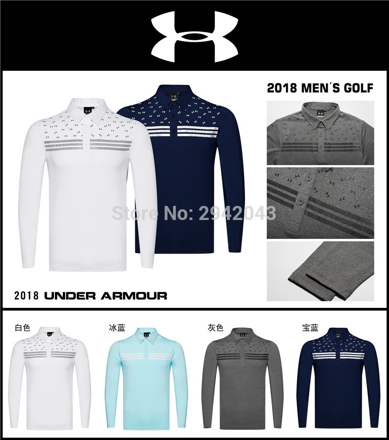 Mens Golf T-shirt Sportswear long sleeve Outdoor leisure Golf T-shirt S-XXL to choose voile panel stripe long sleeve t shirt