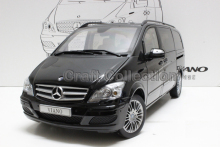Black High Value 1/18 VIANO 639 2012 MPV Van Diecast Model Car Luxury Gifts Rare Miniature Automobile