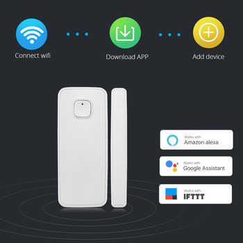 Fuers Wireless WiFi Door Window Sensor Detector Smart Life Home Security Door Alarm System Amazon Alexa Compatible App Control - DISCOUNT ITEM  38% OFF All Category
