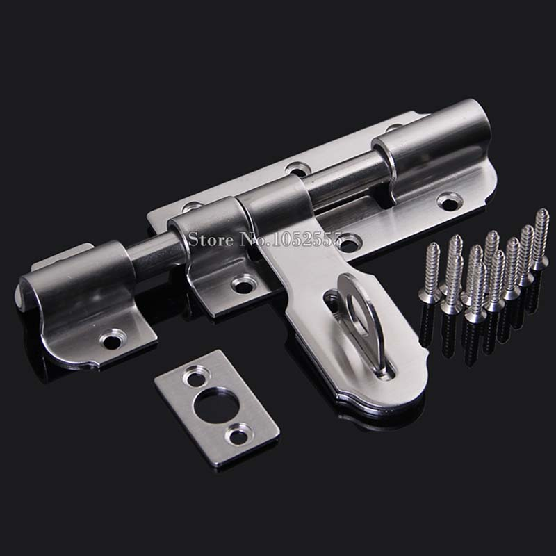 High Quality 4Inch Stainless Steel Door Lock Latch Security Gate Door Barrel Bolts Hasp Lock Door Latch Bolt Lock high quliaty 6 8 10 12 sus304 stainless steel door bolt security door guard lever action flush latch slide bolt lock k112