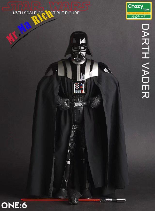 Pazzo Giocattoli 1:6 Star Wars Figure Darth Vader Di Azione Del Pvc Figure Da Collezione Model Toy 26 Cm kaaral gocce azione mirata page 7