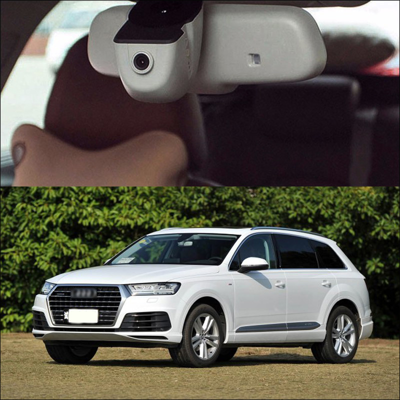 BigBigRoad For 2016 Audi Q7 Q3 wifi Car DVR Driving Video Recorder Novatek 96655 DVR black box Dash Cam FHD 1080p original style bigbigroad for vw multivan car wifi dvr driving video recorder hidden type novatek 96655 car black box keep car original style