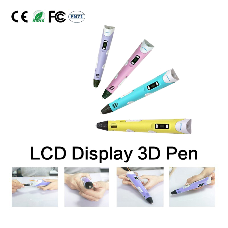DEWANG 3D Pen V2 New Updated Model Printing Drawing with LED Screen Different Colors Free Shipping
