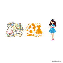 AZSG Female model Cutting Dies For DIY Scrapbooking Decorative Card making Craft Fun Decoration 7.8*6.5cm azsg cute girl cutting dies for diy scrapbooking decorative card making craft fun decoration 9 8 9 2cm