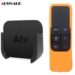 Силиконовый защитный чехол для Apple TV 4K 4-го 5-го поколения, медиаплеер, пульт дистанционного управления, настенный кронштейн, подставка, держа...