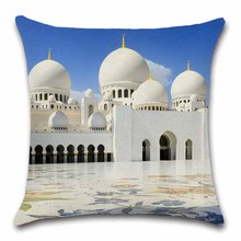 Islam mosque pattern Ramadan Cushion Cover Decoration Home house room sofa chair seat living room Throw pillow case friend gift islamic month ramadan muslim moon mosque letter decor cushion cover home decorative for sofa chair seat pillow case friend gift