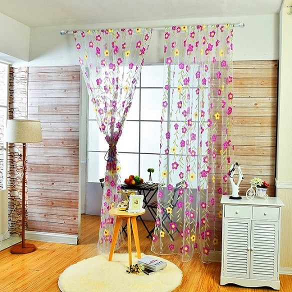 floral tulle sheer curtain (8)