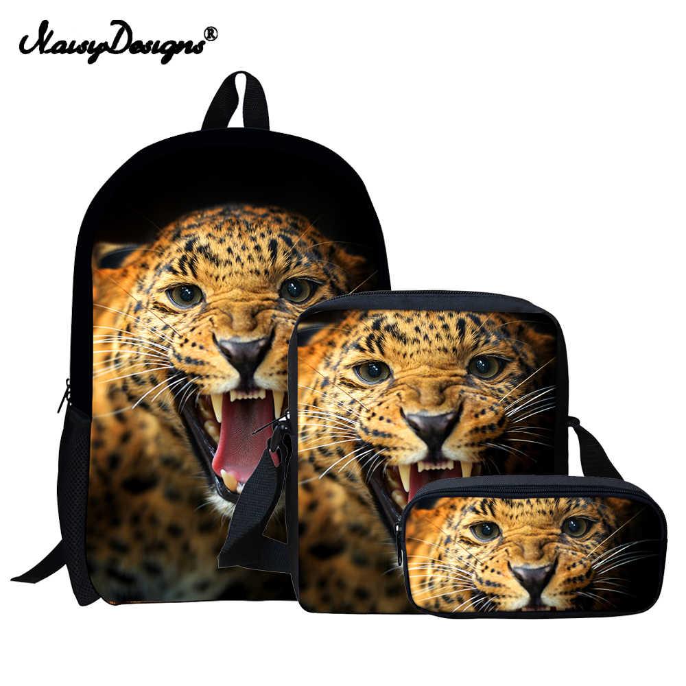 Kids Backpacks Children Sets 3D Tiger Printed School Bags for Girls Boys  Pencil Bag Harajuku Orthopedic 6c4864d7e99c7