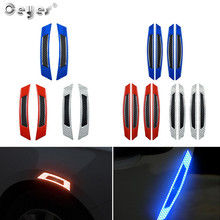 Ceyes Reflective Stickers Warning Safety Mark Anti-collision Auto Side Anti-scratch Strip Car Sticker Protection Cars Styling warning caution mark anti collision prevention reflective open logo ho car auto motorcycle door trunk decal sticker car styling
