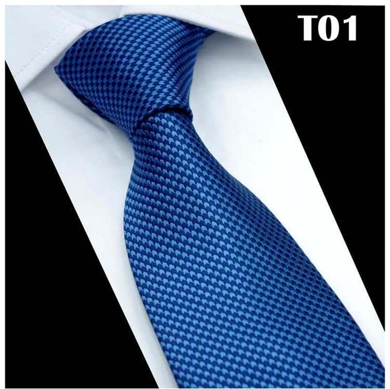 SCST Brand New Fashion Gravata Classic Solid Blue Neck Ties For Men Tie 8cm Slim Wedding Neckties Mens Necktie Cravate CR032
