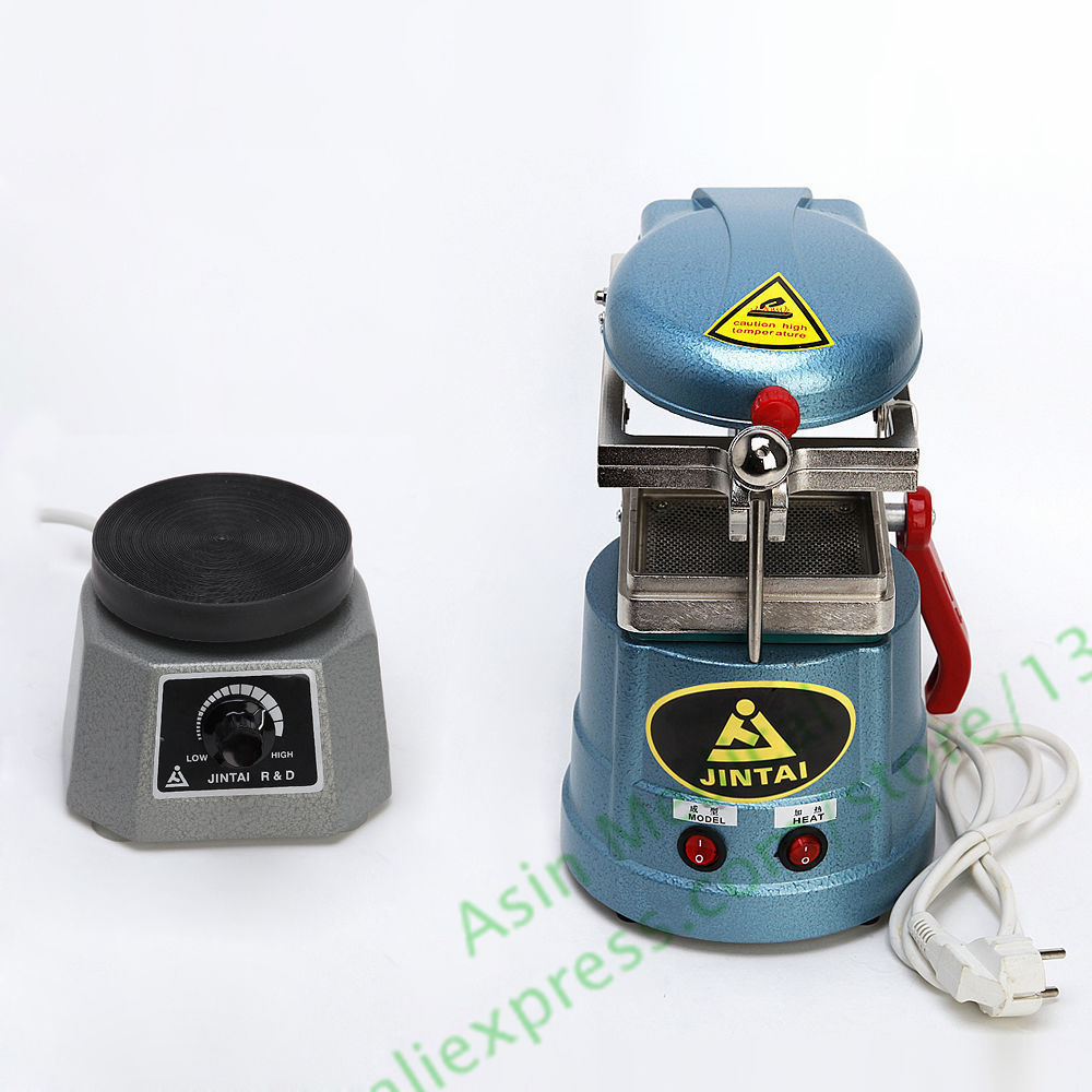Dental Lab Round Vibrator Vibrating Oscillator + Vacuum Forming Molding Machine