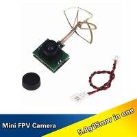HAKRC 5 8G 48CH 25MW 1000TVL FPV Camera Built In Transmitter For RC Mini Quadcopter
