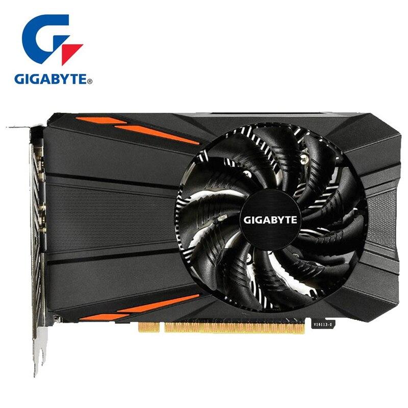 Carte graphique Gigabyte GTX1050 Ti carte 4 GB avec carte graphique NVIDIA GeForce gtx 1050 Ti 4 GB GDDR5 128 bits pour cartes PC d'occasion