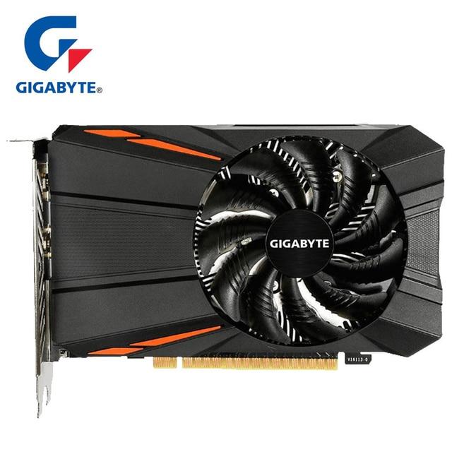 Gigabyte Graphics Card GTX1050 Ti 4 GB Card with NVIDIA GeForce gtx 1050 Ti GPU 4GB GDDR5 128 Bit Video Cards for PC Used Cards