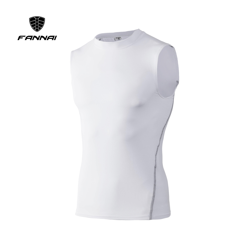 2019 Men Compression Base Layer Sleeveless Summer Vest Thermal Under   Top   Tees   Tank     Tops   Fitness Tights High Flexibility 7 Colors