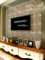 Colorful crystal mosaic Wall Sticker Bathroom Kitchen Waterproof Tile Sticker TV Background Swimming Poor Glass Sticker Decor