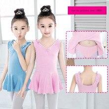 Free shipping Children's dancer split girls' gym wear cotton sleeveless ballet dance ballet dance leotard dress JQ-273