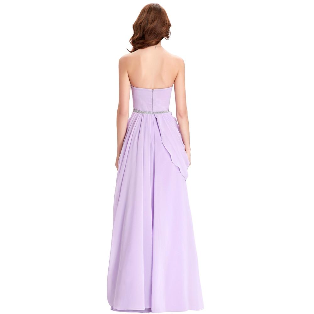 Kate Kasin Lavendel Brautjungfer Kleider Langes Chiffon Kleid ...