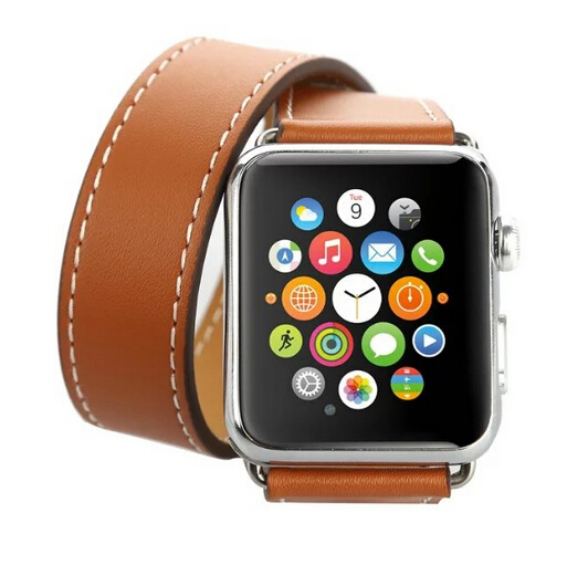 Series 4/3/2/1 Genuine For Apple Watch Strap Leather Band Double Tour 44mm/42mm/40mm/38mm Magnetic Band For Apple leather strap fohuas series 2 1 genuine leather loop for apple watch band double tour 42mm for apple watch leather strap 38mm bracelet women