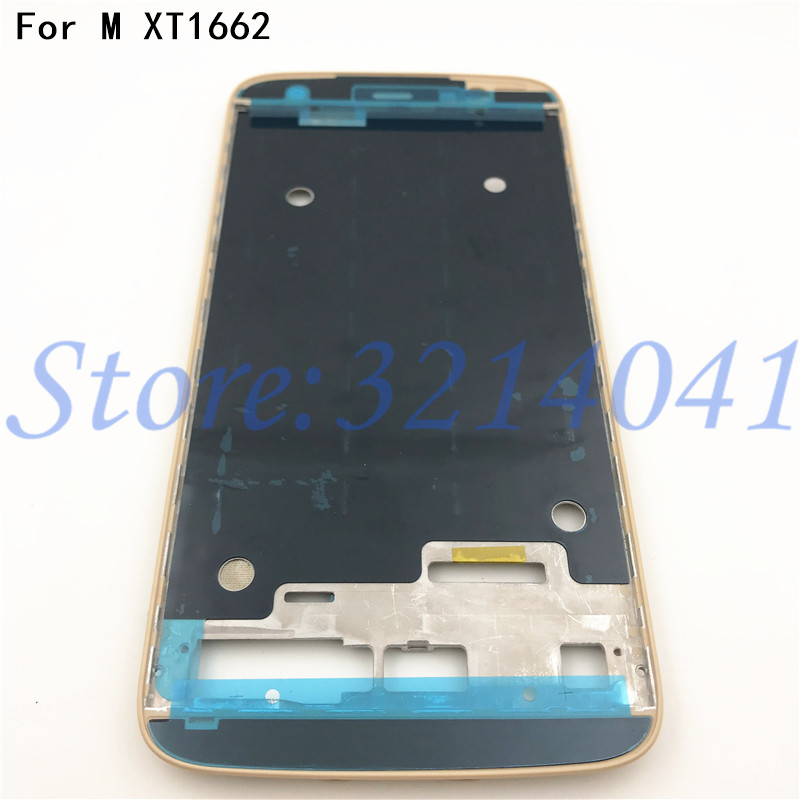 Original New For Motorola Moto M <font><b>XT1662</b></font> Middle Front Frame Bezel Housing <font><b>LCD</b></font> Screen Holder Frame Repair parts image