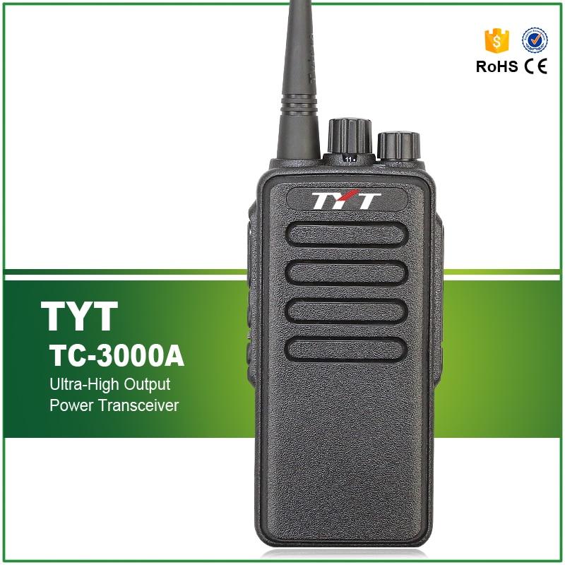 Gratis frakt 10W Max VHF 3600MAH Li-ion High Output Power Walkie Talkie TYT TC-3000A