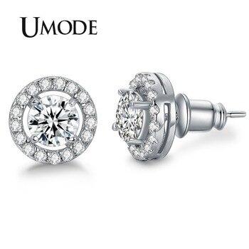Hearts & Arrows  Stone Stud Earrings for Women
