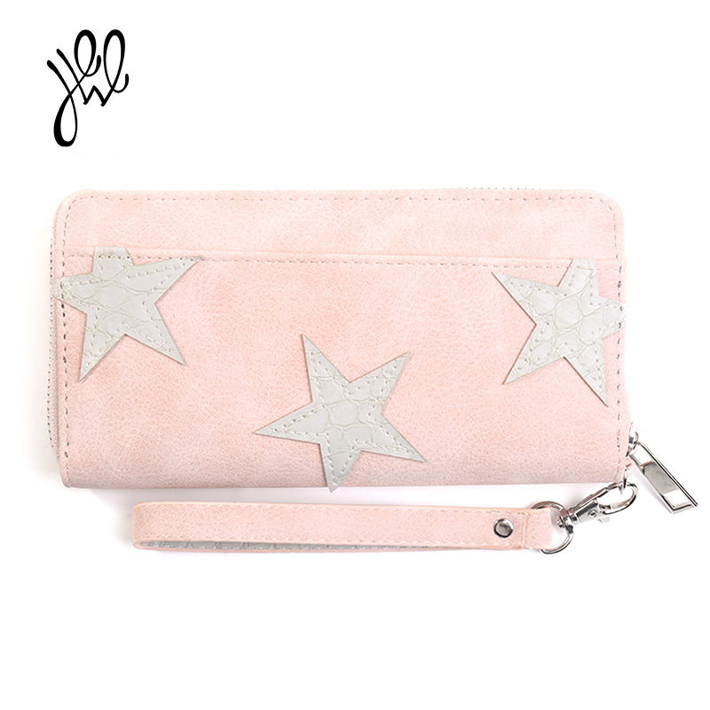 PU Leather Women Wallet 2017 Long Zipper Lady Purse Luxury Brand Famous Design Wallets Coin Purse With Card Holder Clutch 500681