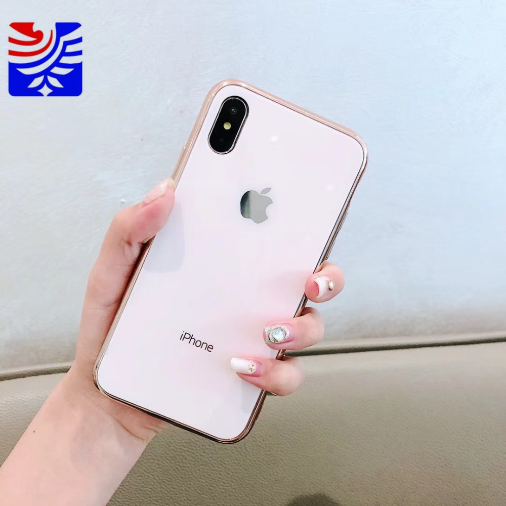 PEIPENG Luxury made of electroplated glass Anti-fall Phone Cases For iphone 6 6S 7 8 Plus X Xs Max Christmas gift Girl Simple and stylish03