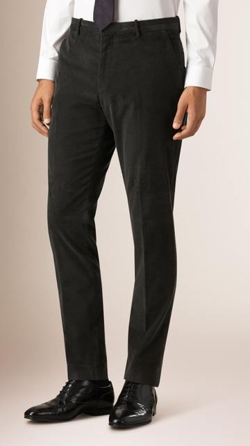 Slim-Fit Stretch Corduroy Pants Tailored Corduroy Trousers Custom Made From Stretch Cotton Skinny Corduroy Pants For Comfort