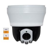 4 Mini 960P HD AHD PTZ Dome Camera 10X Zoom 3Pcs Array Leds 30m IR