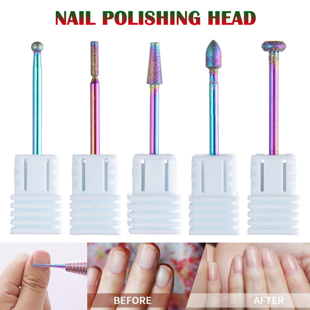 2019, 1/11 piezas de arte de uñas cabeza mágica de la manicura pedicura de taladro de uñas del dedo del pie cuidado pulido