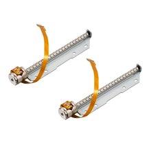 UXCELL 2 шт. DC 3-6 в микро-шаг тактовый шаговый двигатель винт 2 фазы 4 провода для DIY небольшой Slipway лазерная гравировка машины игрушки