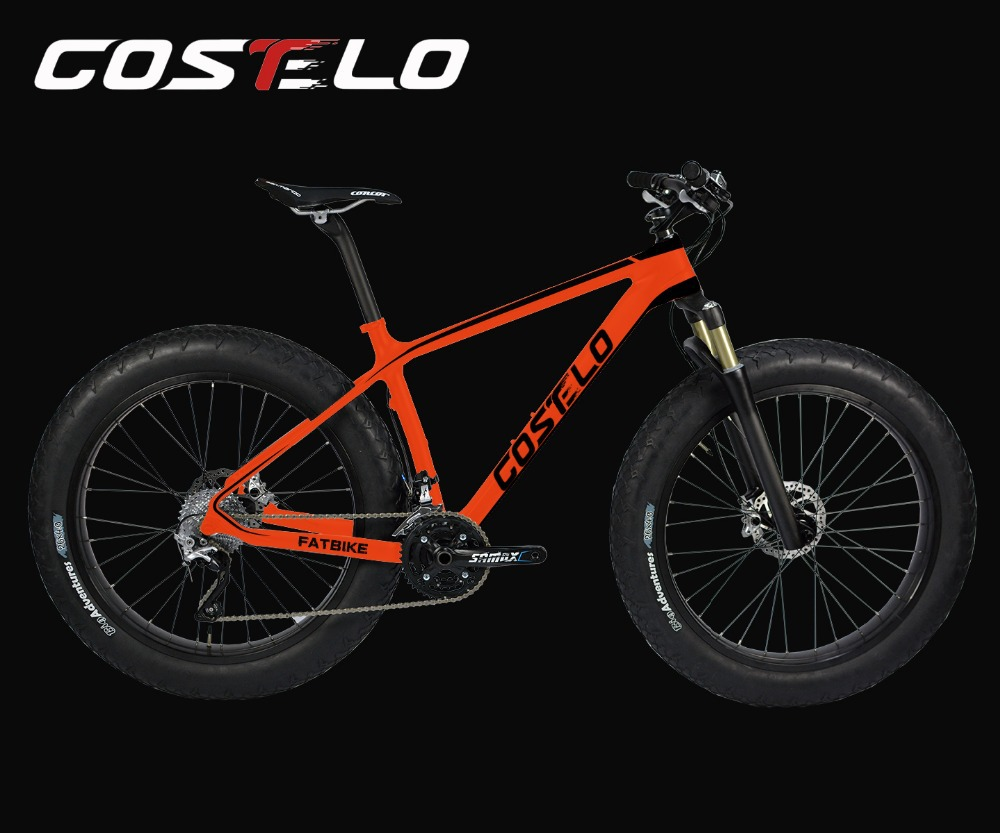 Hot Sale!big discount,BRAND NEW full carbon snow bicycle Frame COSTELO 26er fat bike frame,fork can be customized color reynolds 525 frame retro bike frame road bike city bike frame fork can be customized copper welding frame