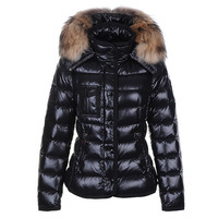Fashion Hot Sale 80 White Duck Down Womens Jackets With Raccoon Fur Collar Winter Thinker Maternity
