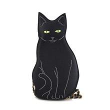 New Womens Shoulder Bag Fashion Cute Cat Handbag Vintage Chain Bags Messenger PU Leather Mini