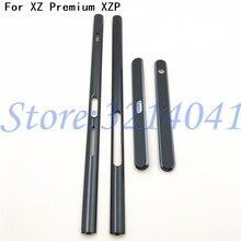 Top Qualidade New Substituição Habitação Metal Frame Oriente Peças Laterais Para Sony Xperia XZ Premium XZP G8141 G8142 peças de Reparo
