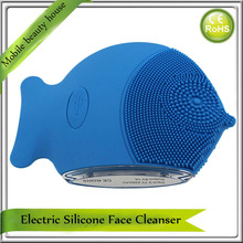 New Waterproof USB Rechargeable Ultrasonic Vibration Silicone Facial Cleaner Cleansing Massager Machine Electric Washing Brush