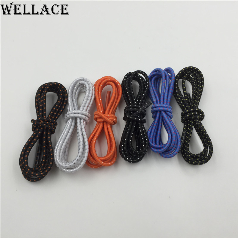 (30 pairs/Lot)Wellace elastic laces for kids shoes no tie shoelaces Rubber Shoe strings latchet Running/Jogging/Sports120cm/47