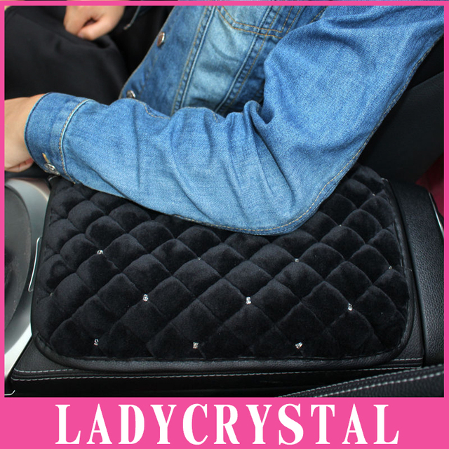 Ladycrystal Custom Fit Car Armrest Cushions Wool Plush Automobiles Armrest Covers Car Styling Interior Decoration Accessories