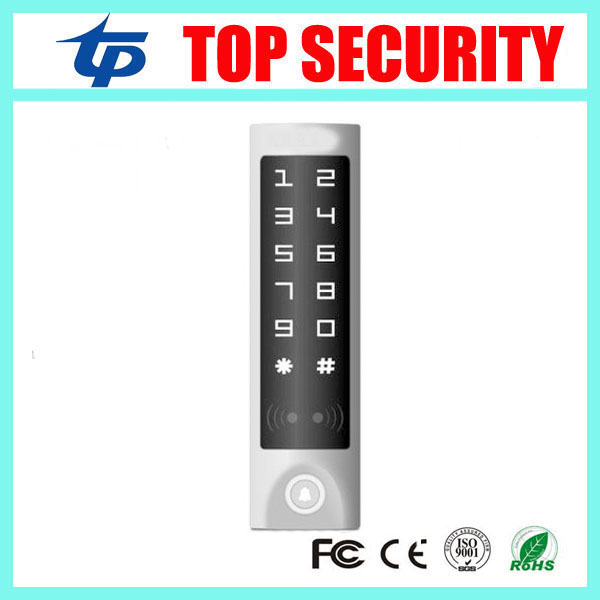 Free shipping touch screen free shipping door access control standalone RFID card access control reader weigand in/out reader 5pcs lot free shipping outdoor 125khz em id weigand 26 proximity access control rfid card reader with two led lights