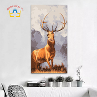 Oil Painting By Numbers Large Wall Art Animal Canvas Paintings Deer Module Pictures Home Decorations Painting