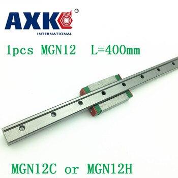 12ミリメートルリニアガイドmgn12 l = 400ミリメートルリニアレールウェイ+ mgn12cまたはmgn12hリニア台車cnc xyz軸