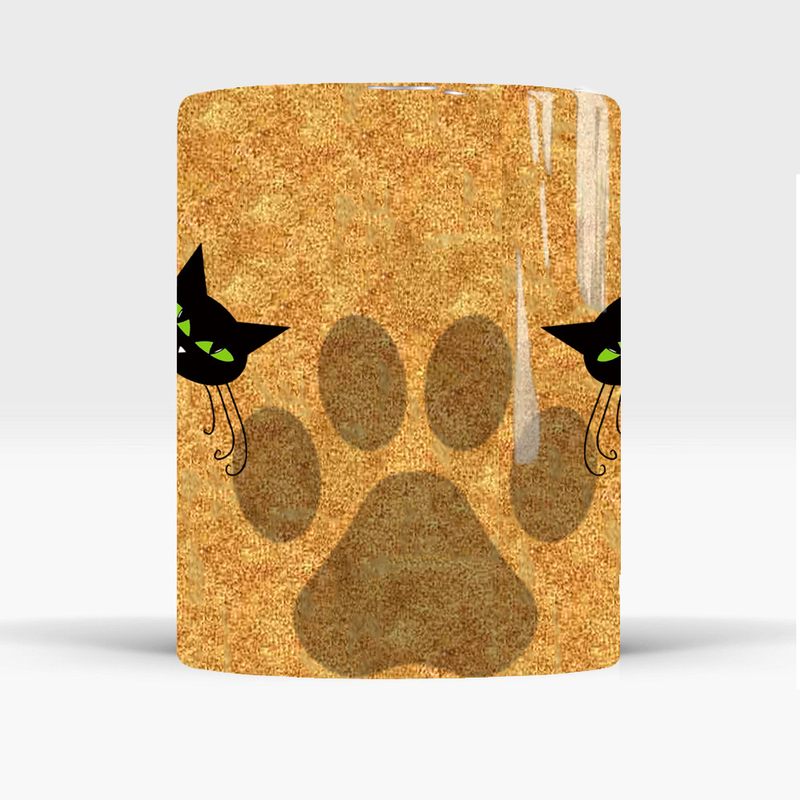 New Heat Reveal Mug Color Change Coffee Cup Sensitive Morphing Mugs Temperature Sensing Birthday Gift Crazy Cat Mom in Mugs from Home Garden