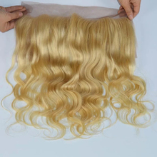 613 Blond Frontal Closure with Baby Hair 13×4 Brazilian Virgin Human Hair Honey Blonde Full Lace Frontal Body Wave Bleacked Knot