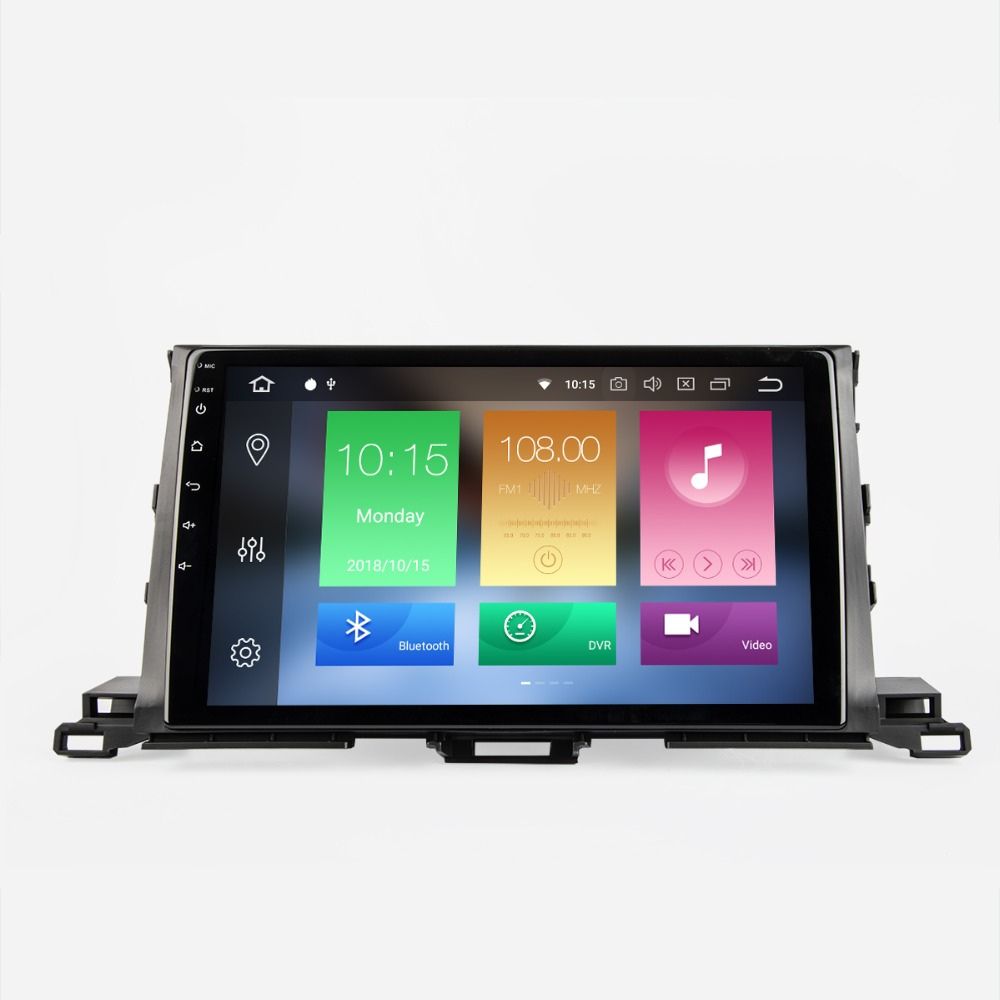 Android 8.0 Car DVD Stereo Player GPS Navigation System PX5 For Toyota Highlander 2012